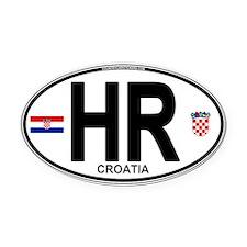 hr-oval Oval Car Magnet