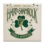 The Harp & Shamrock Ceramic Tile