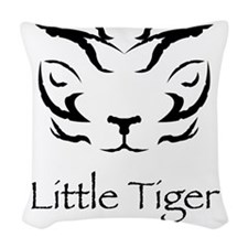 LittleTigerLogo4 Woven Throw Pillow