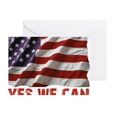 Yes We Can American Flag Greeting Card