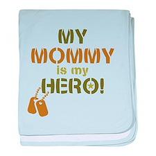 Dog Tag Hero Mommy baby blanket