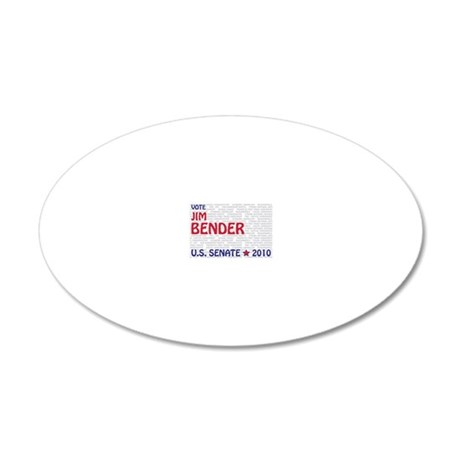 jim_bender_sen_d3_yardsign 20x12 Oval Wall Decal