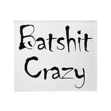 batship_crazy2 Throw Blanket