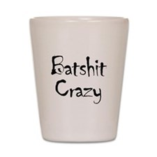 batship_crazy2 Shot Glass