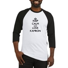 Keep Calm and Love Kamron Baseball Jersey
