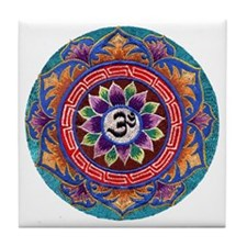 Needlepoint OM Tile Coaster