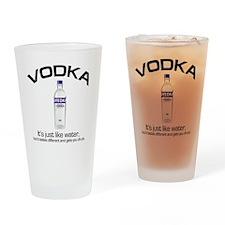 vodka shirt copy Drinking Glass