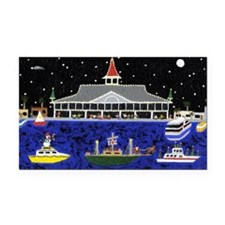 Newport Beach_Christmas Boats Rectangle Car Magnet
