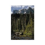 Rocky Mountain Vista Rectangle Magnet