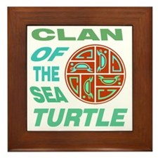 Clan of the Sea Turtle Framed Tile