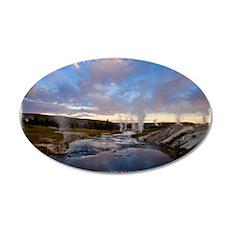 Yellowstone1 35x21 Oval Wall Decal