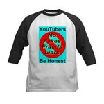YouTubers Be Honest Kids Baseball Jersey