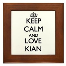 Keep Calm and Love Kian Framed Tile