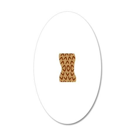peanut 20x12 Oval Wall Decal