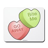 Candy Hearts Mousepad