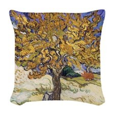 Mulberry Tree, 1889 by Vincent Woven Throw Pillow