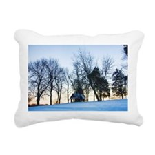 Serene Twilight Winter Scene Rectangular Canvas Pi