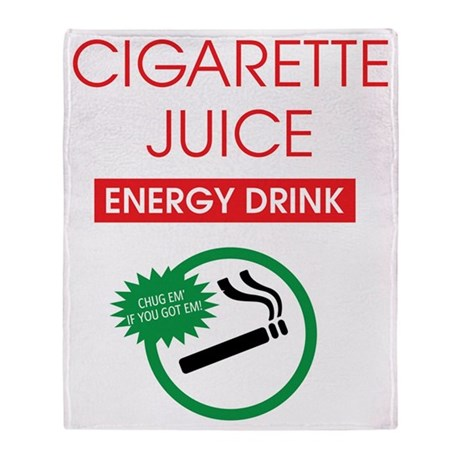 Cigarette Juice Dark Throw Blanket