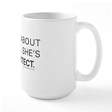 ASK ME ABOUT_MOM copy Ceramic Mugs