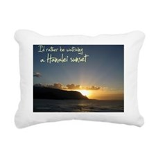 CalendarHanaleiSunset Rectangular Canvas Pillow