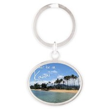 CalendarBeach Oval Keychain