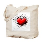 Heart Splat Tote Bag