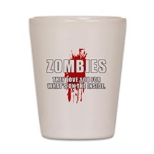 ZombiesLove Shot Glass