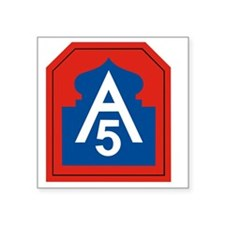"5th Army Square Sticker 3"" x 3"""