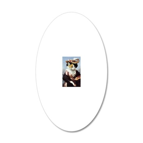 Miss Kitty 20x12 Oval Wall Decal