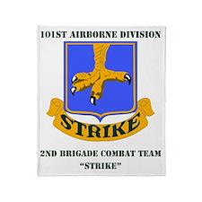 101st ab div 2nd Brigade Combat Team Throw Blanket