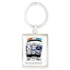 Cant_Choose_Your_Family Portrait Keychain