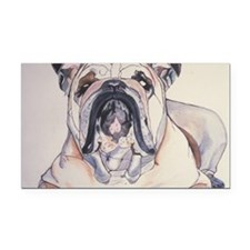 Bull Dog Rectangle Car Magnet