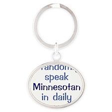 Minnesotan Square Oval Keychain