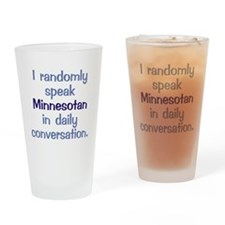 Minnesotan Square Drinking Glass