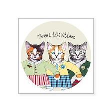 "3 little kittens B - xmas o Square Sticker 3"" x 3"""