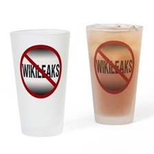 nowikileaks Drinking Glass