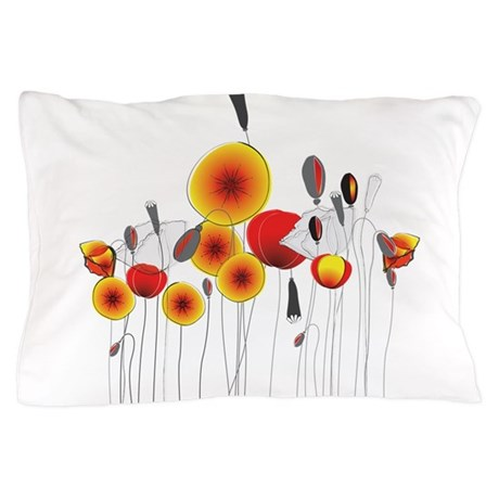 Contemporary California Poppies Pillow Case