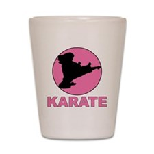 girls karate Shot Glass