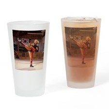 Karate Angels 2011 swimsuit calenda Drinking Glass