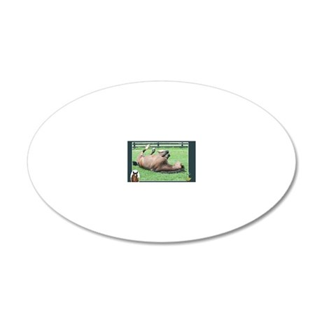 Bobby mouse pad 20x12 Oval Wall Decal