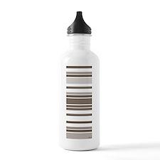 brownstripesyogamat2 Water Bottle