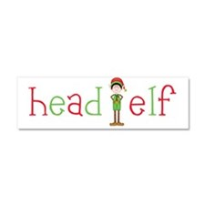 Head Christmas Elf Car Magnet 10 x 3