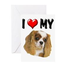 I Love My Cavalier Greeting Card