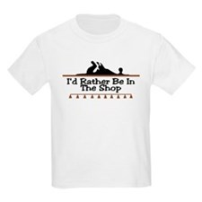 I'd Rather Be In The Shop Kids T-Shirt