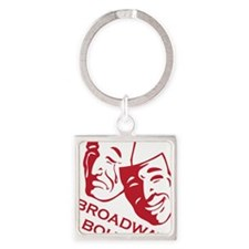 bb_new_red Square Keychain