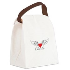 Angel Wings Charlie Canvas Lunch Bag