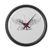 Angel Wings Charlie Large Wall Clock