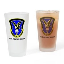 101ST AVIATION BDE  WITH TEXT Drinking Glass