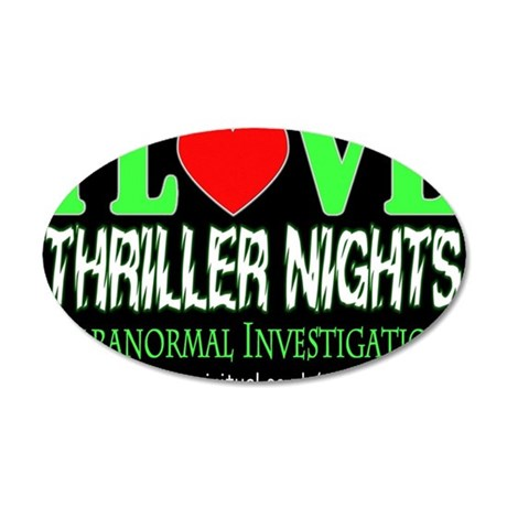 lovethrillernote 35x21 Oval Wall Decal