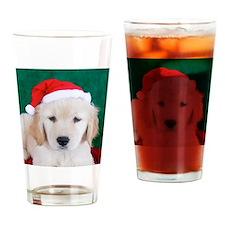 Golden Retriever Christmas Keepsake Drinking Glass